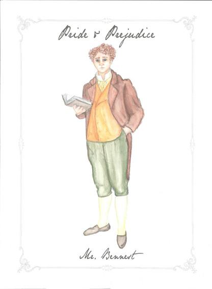 Mr. Bennet Costume Rendering