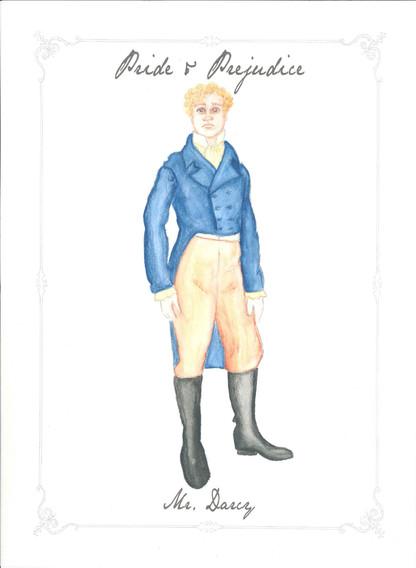 Mr. Darcy Costume Rendering