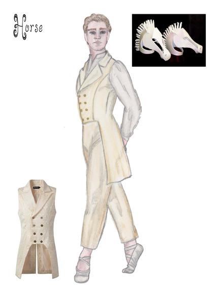 CINDERELLA: A BALLET COSTUME RENDERING