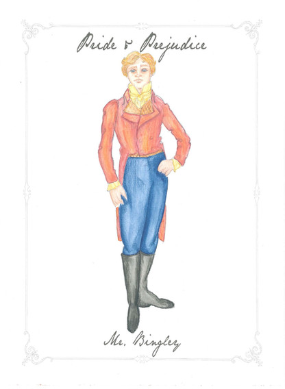 Mr. Bingley Costume Rendering