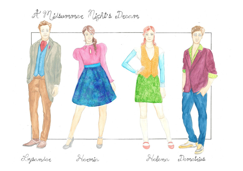 A Midsummer Night's Dream Costume Renderings