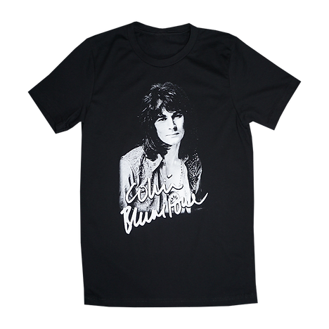 Colin blunstone mens tee. Black short sleeve shirt with crew neck and colin blunstone print on front