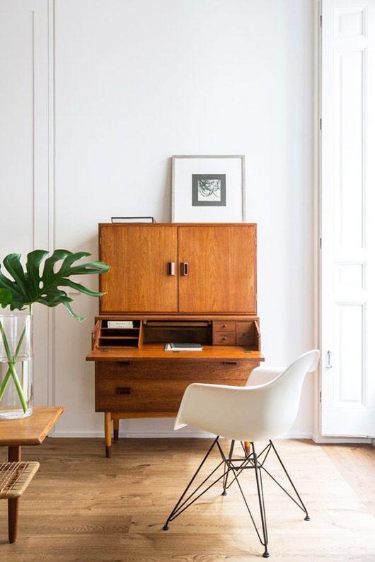 Mid Century home office design secretary desk