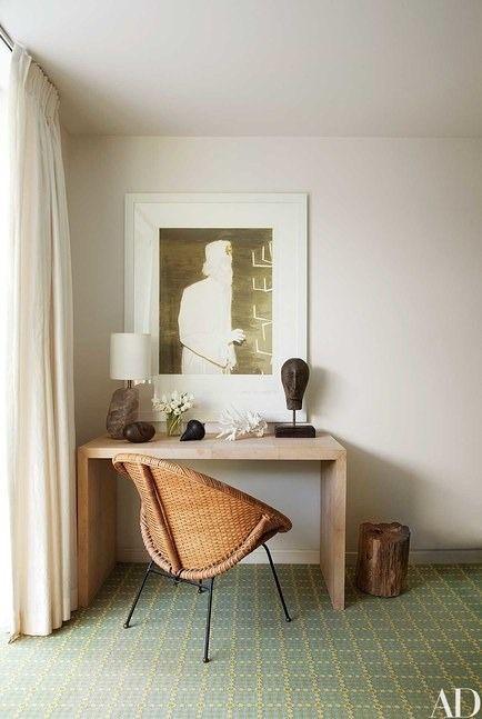Modern neutral home office design