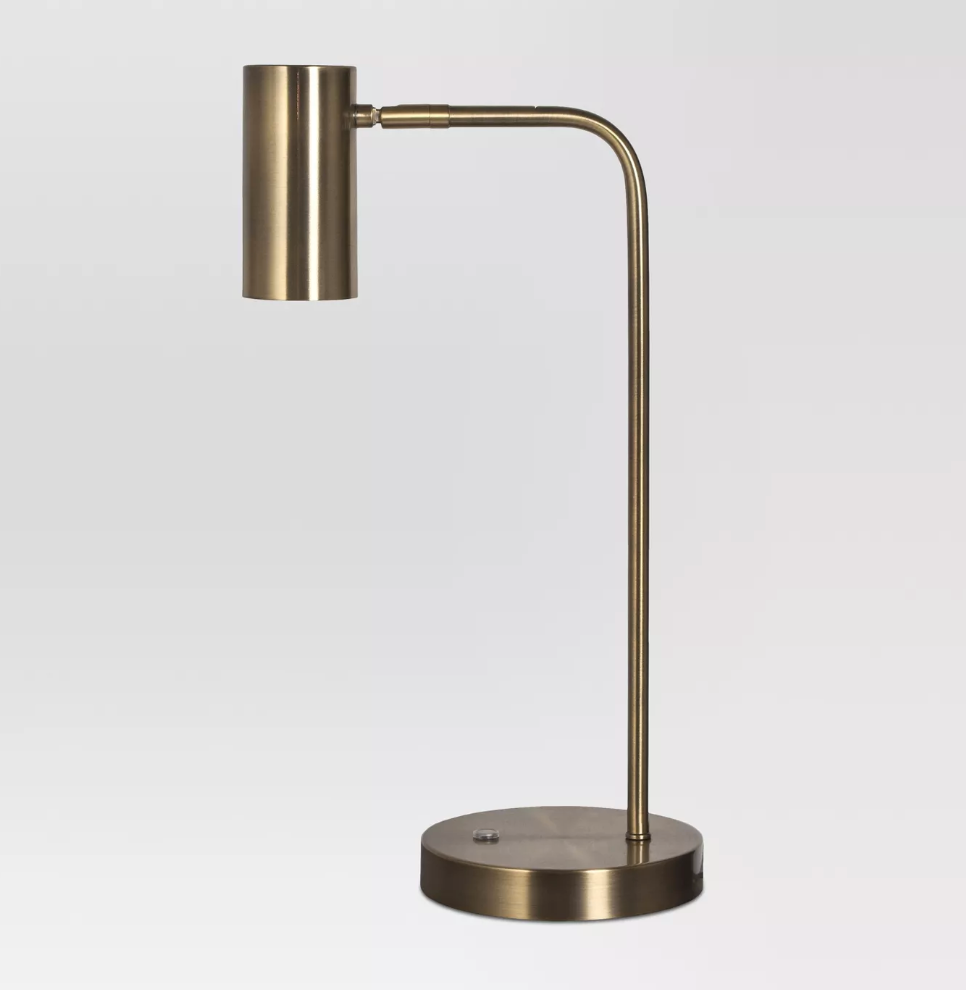 Target Dean Task Lamp Brass Lamp