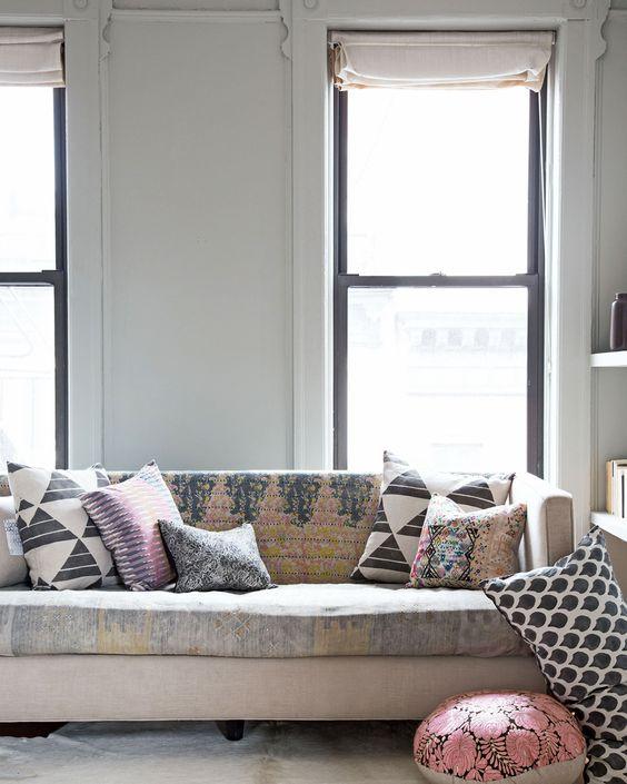 pattern sofa rebecca atwood fabric wrapped on sofa