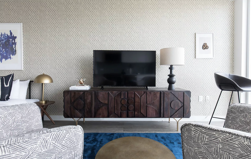 Media console styling, how to style a tv console, tv console styling