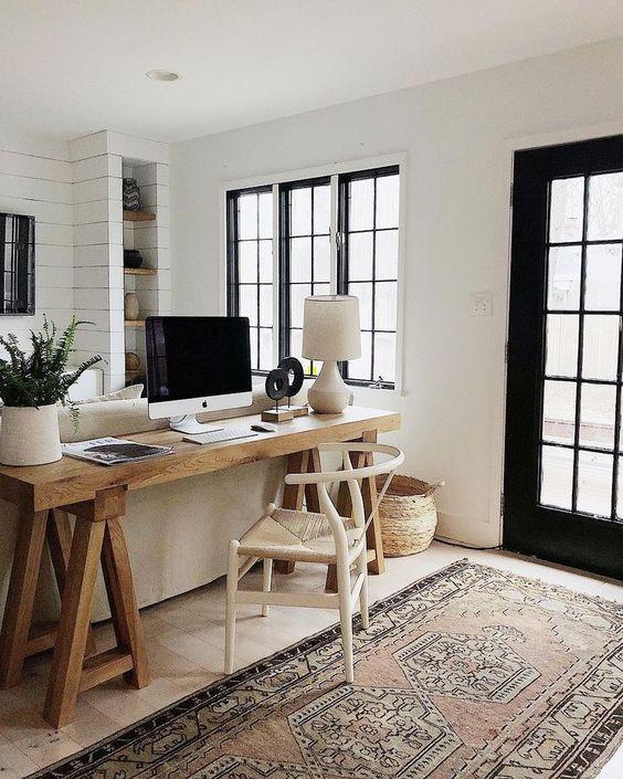 Farmhouse interior design home office