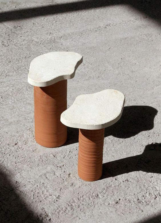 sight unseen, curvy side tables, jean royere