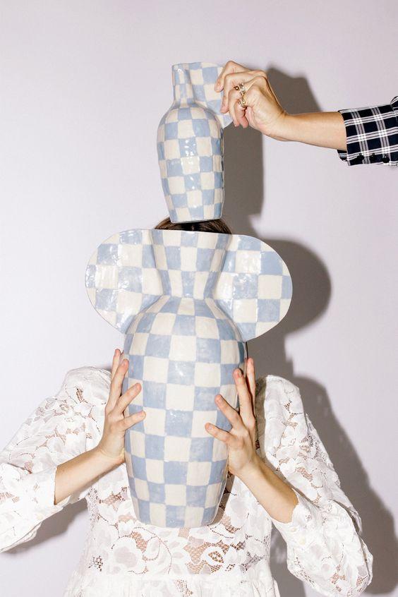Mr. Larkin checkerboard tile ceramics