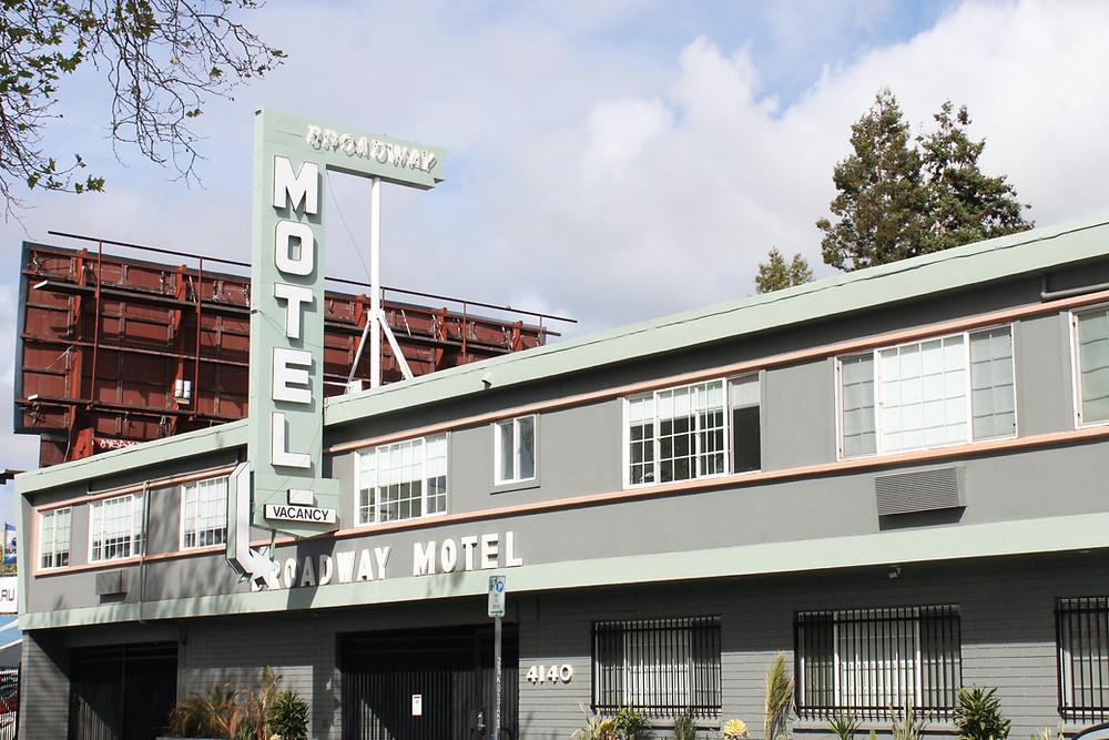 Mid Century motel exterior