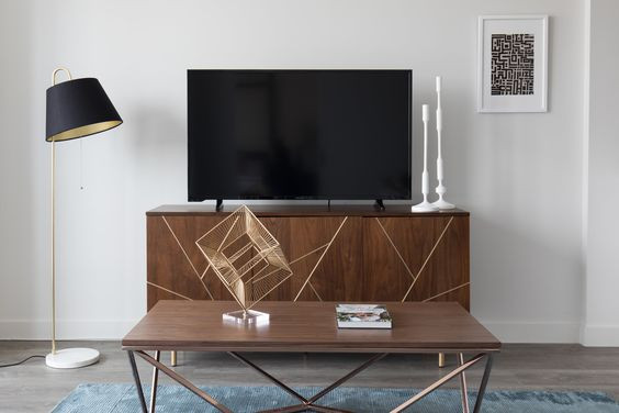 media console styling, how to style a tv console, Sun Soul Style Interiors