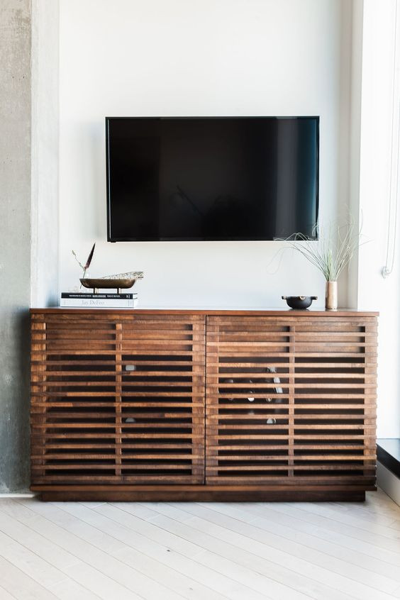 Media console styling, how to style a media console, tv console styling