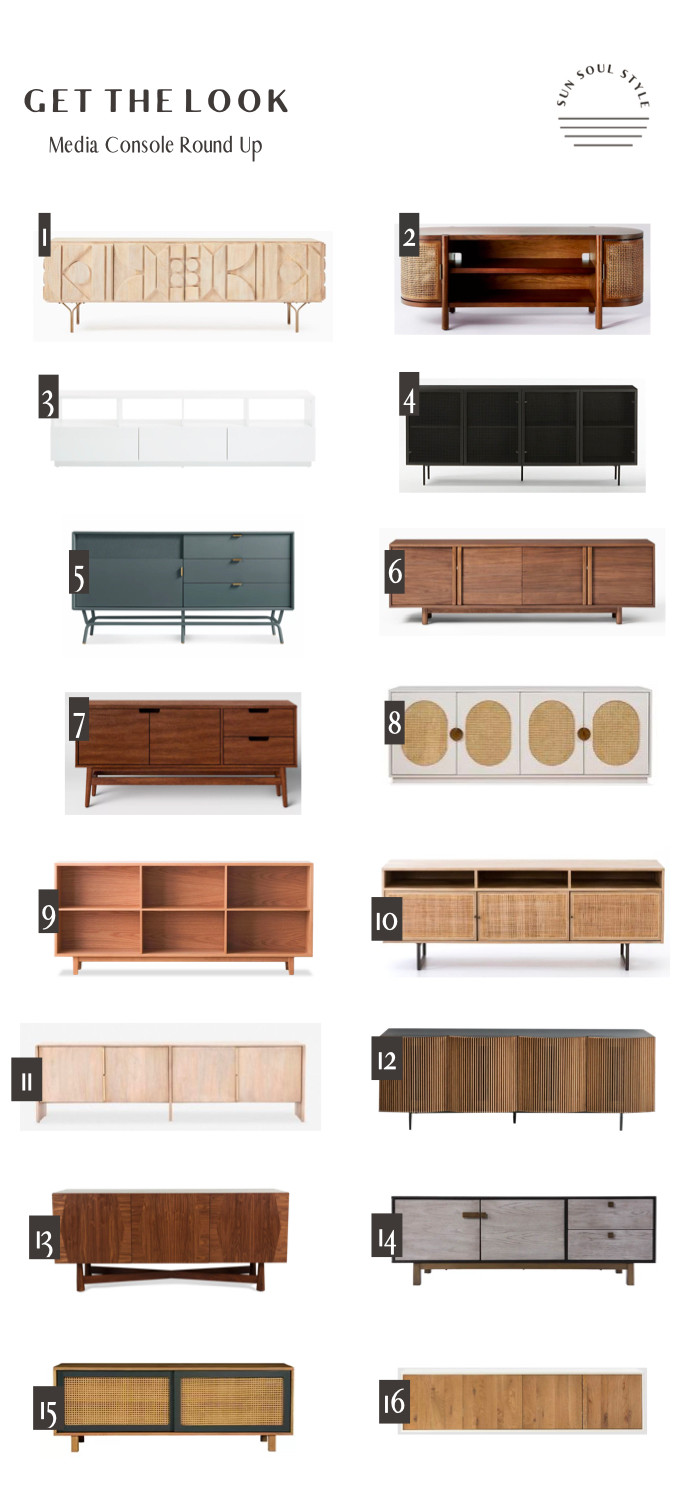 Media console round up, tv console round up