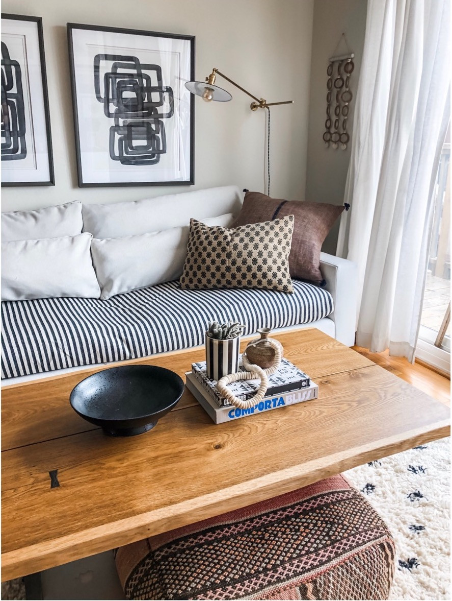 Sun Soul Style Interiors. Bohemian living room moroccan rug abstract art