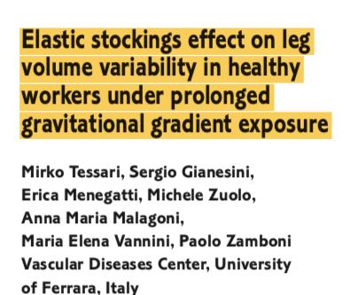Uso de meia elástica em pacientes saudáveis