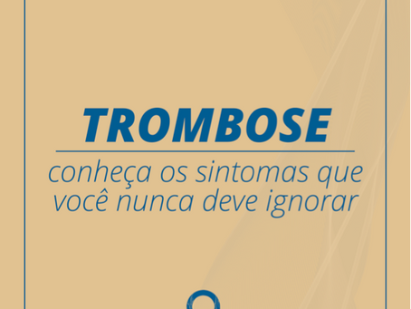 Como identificar uma trombose?
