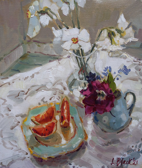 Pheasants Eye And Tulip With Grapefruit - £530