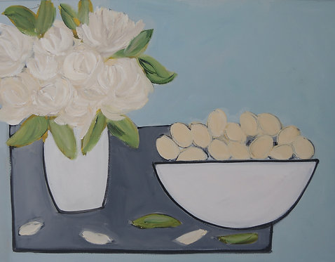 White Flowers and Eggs - £950