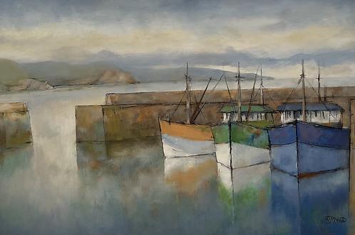 Three trawlers + morning sea mist - £1995