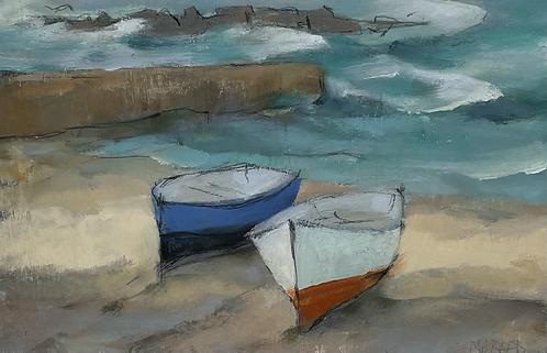 Blue and white craft, Sennen - £495