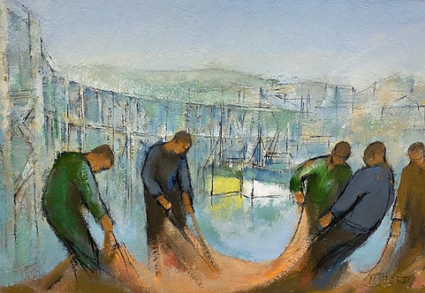 Fishermen with Nets Across from the Market- £1,200