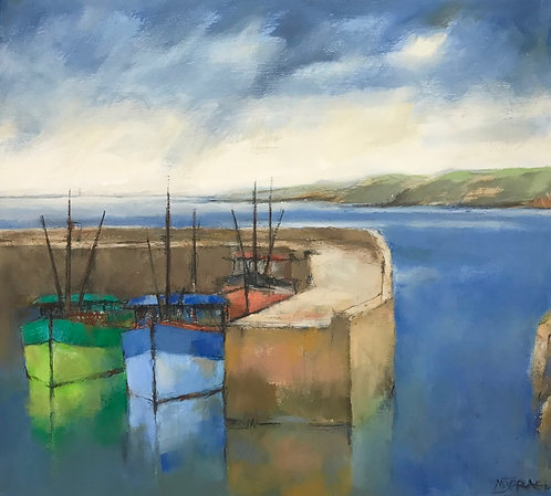 Harbour Shapes, Blue and Green Bows- £950