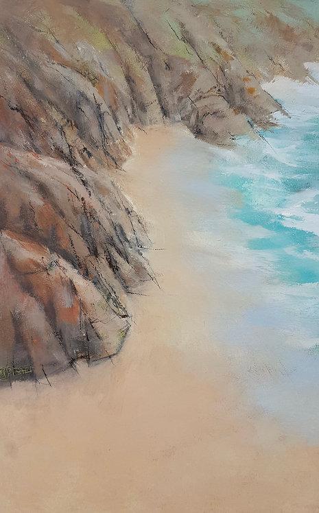 Cliffs Sea And Sand, Pedn Vounder - £1100