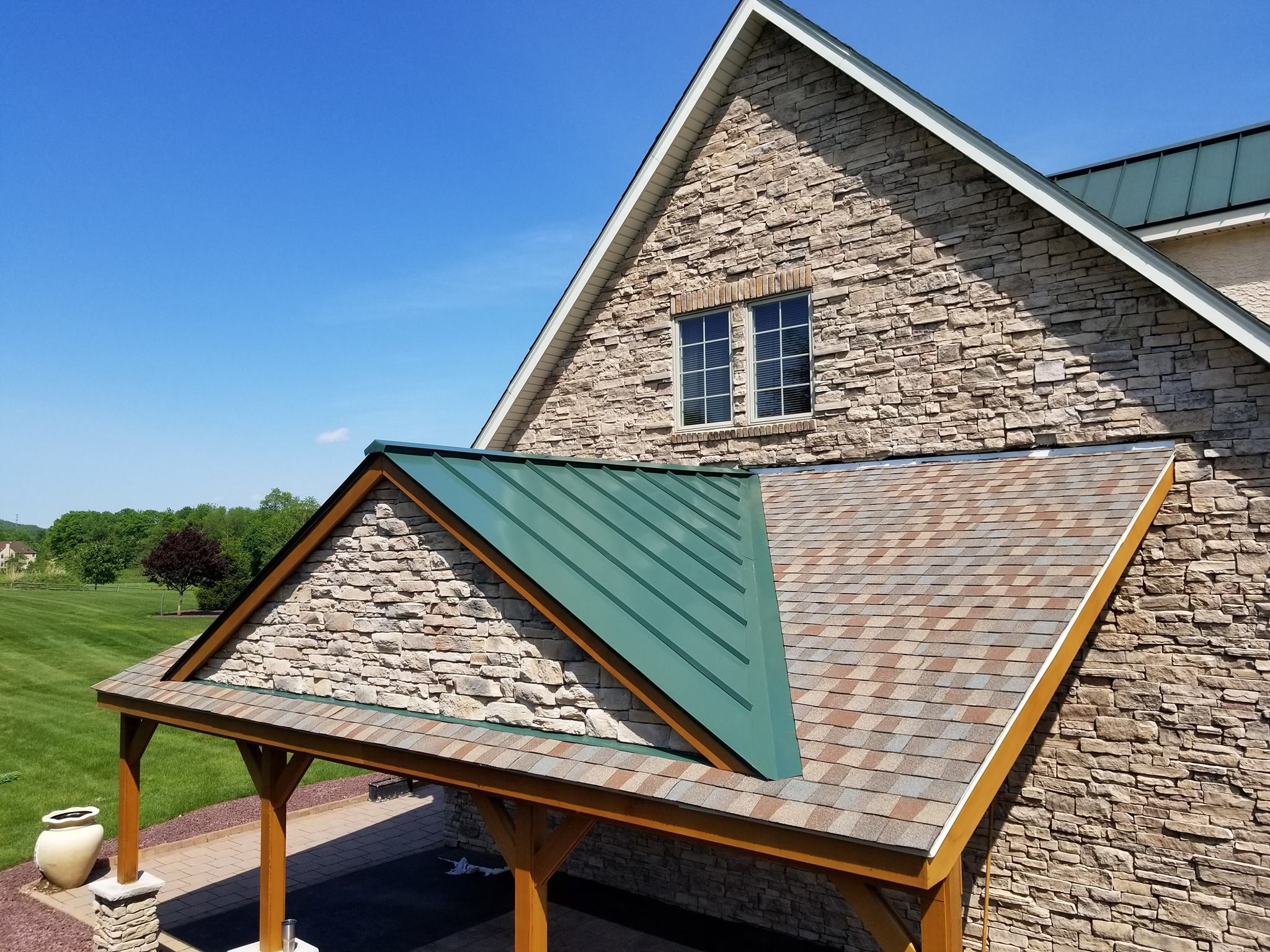 Standing Seam Forest Green
