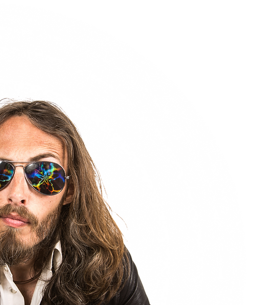 Jesse Watt The Watt House lunettes de soleil rock'n'roll reflets psychédéliques