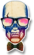 Logo The Watt House crâne lunettes de soleil ray ban noeud papillon