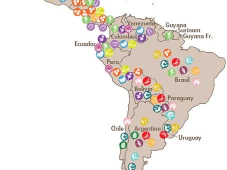 Mapa de plagas en Latinoamérica