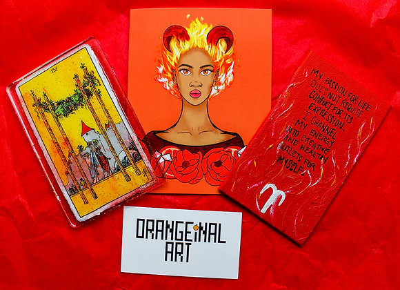 Astrology Bundle: Art Card + Tarot + Affirmation