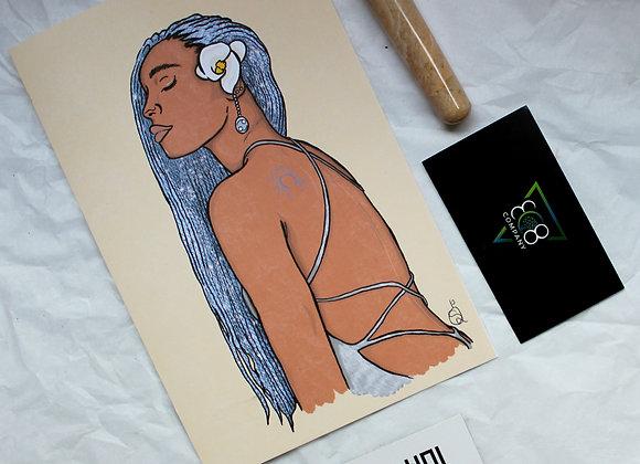 Cancer Astrology Bundle: Artwork Card + Crystal
