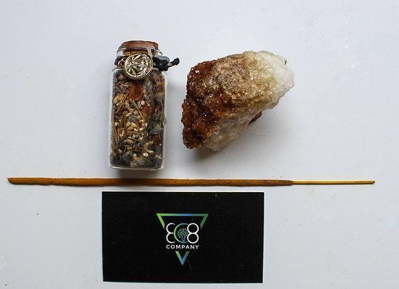Astrology Bundle: Spell Jar +Crystal + Incense