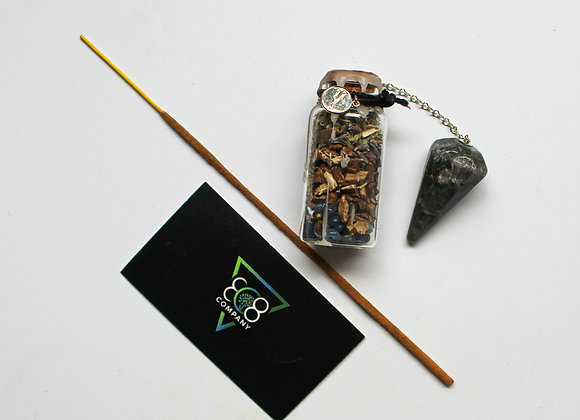 Astrology Bundle: Spell Jar + Crystal + Incense