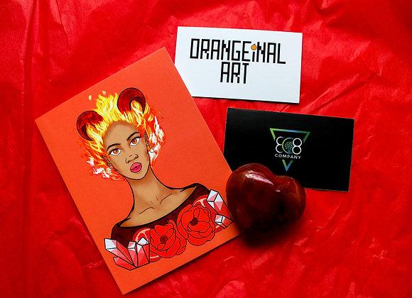 Astrology Bundle: Artwork Card + Crystal