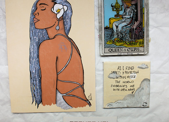 Cancer Astrology Bundle: Art Card + Tarot + Affirmation