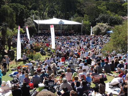 """Scene from """"Music in the Hills"""" At Makarange lodge in Kloof"""