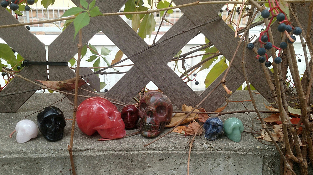 Skull Carved Gemstones