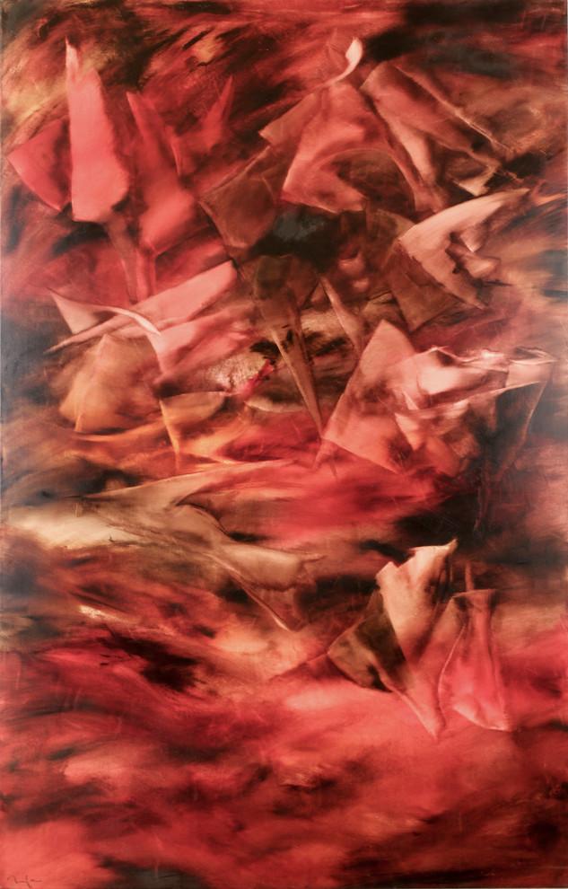 Posiblemente VIII, Mila Lozano,Óleo sobre tela, 150 x 97 cm