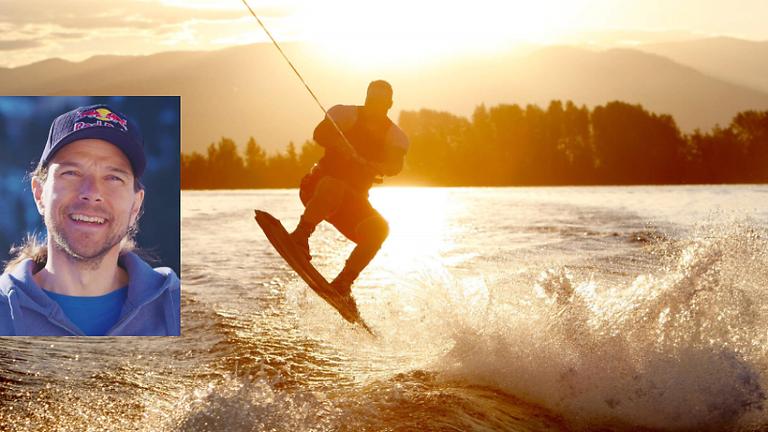 Wake- und Surfboarding mit Snowboard Legende Sigi Grabner