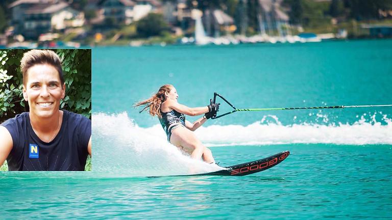 Wasserski mit Ski Legende Michaela Dorfmeister