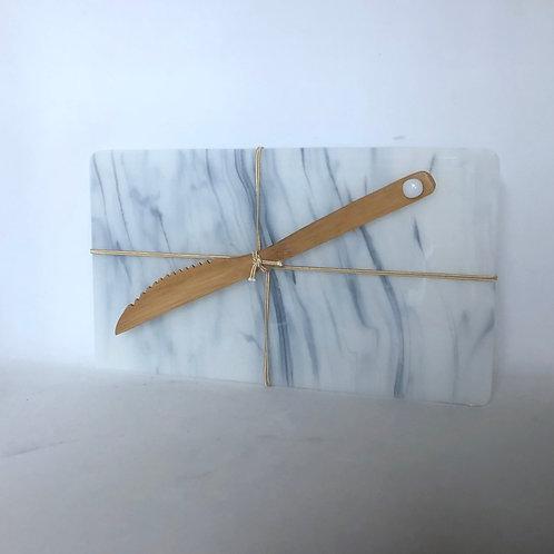 Marbled Glass Cheese Board III