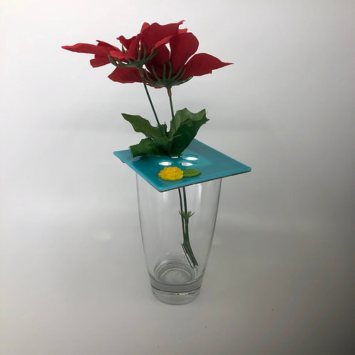 """Glass Topper """"Yellow Rose"""""""