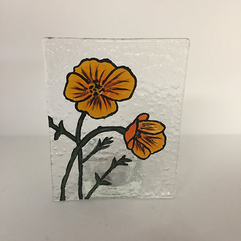 California Poppy Tea Light