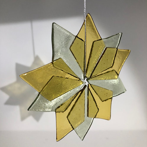 Silver and Gold Star Ornament
