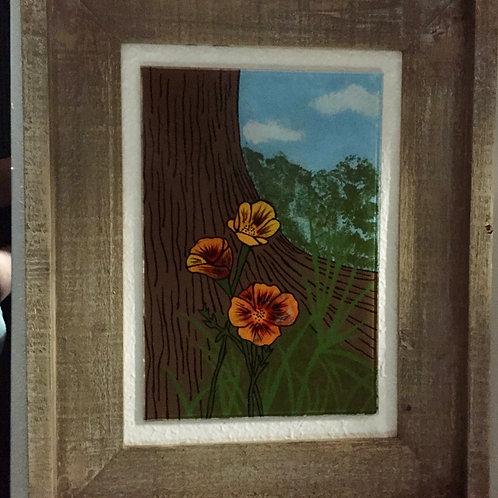 Poppy In Shade of Oak