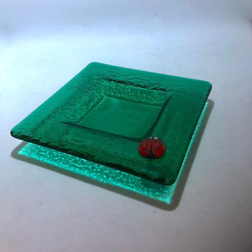 Emerald Ladybug Dish