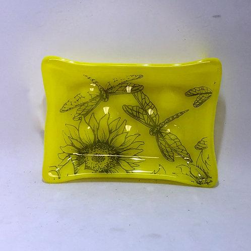 Sunflower & Dragonflies Soap Dish